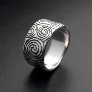 Anneau à spirales celtes argent 925 ALLDEADS