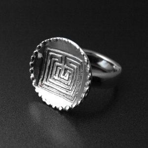 Bague argent labyrinthe celte ALLDEADS