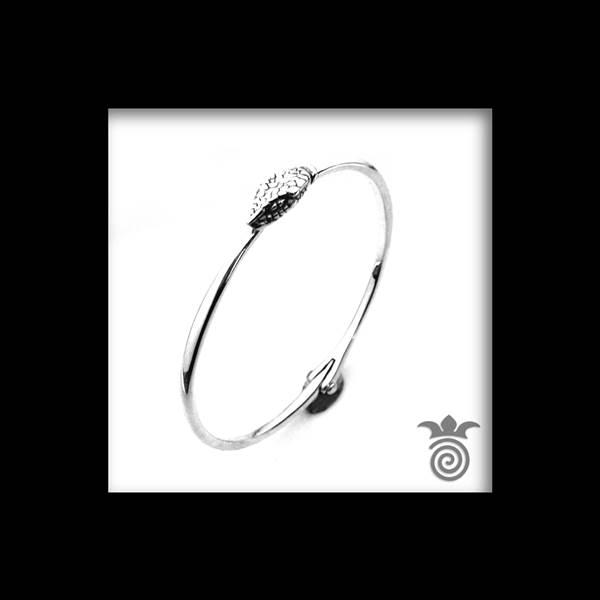 Bracelet fin serpent argent