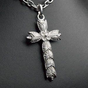 Pendentif croix viking médievale argent