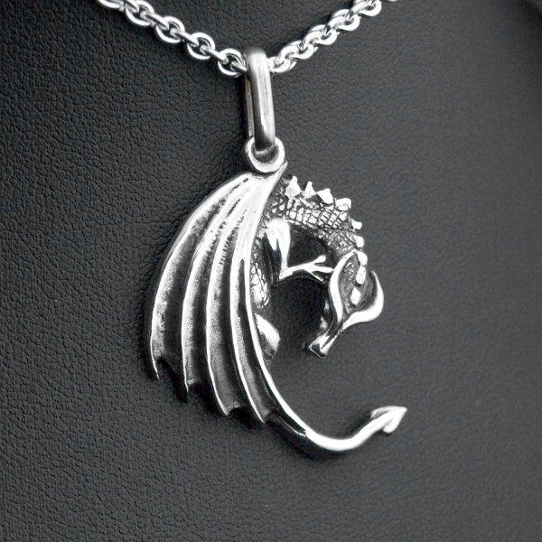 Pendentif dragon smaug argent 925