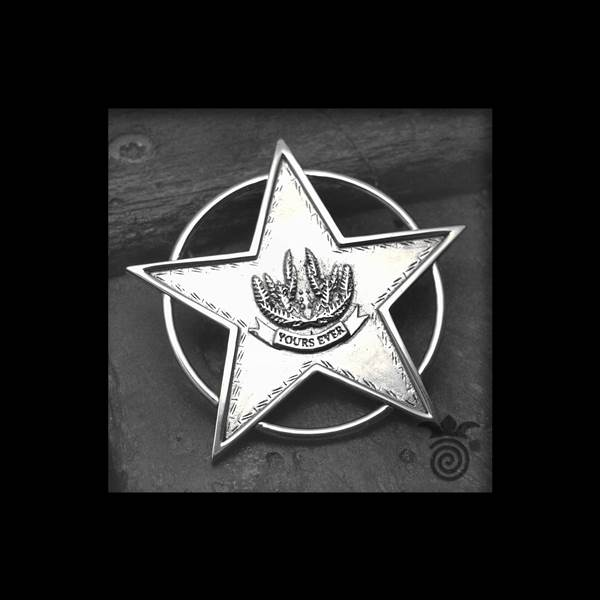 Pendentif étoile sherif et cercle argent