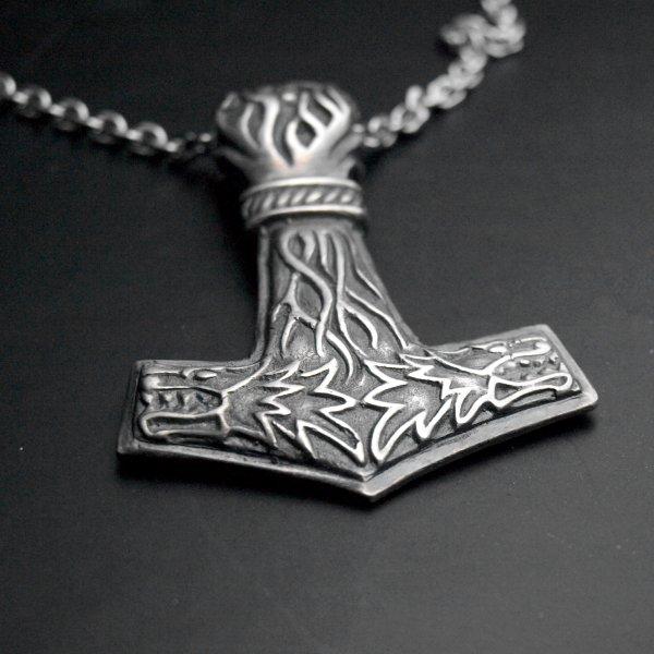 Pendentif viking marteau de Thor argent